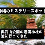 奥武山公園の護国神社の池に行ってきた【沖縄ミステリースポット】