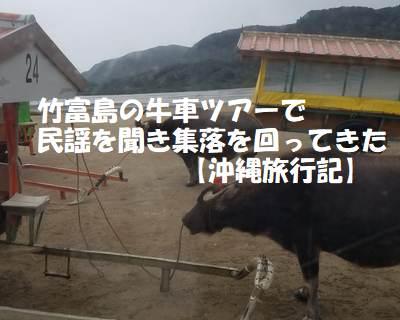 竹富島の牛車ツアーで民謡を聞き集落を見て回ってきた【沖縄旅行記】