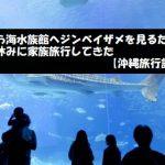 美ら海水族館へジンベイザメを見るため夏休みに家族旅行してきた【沖縄旅行記】